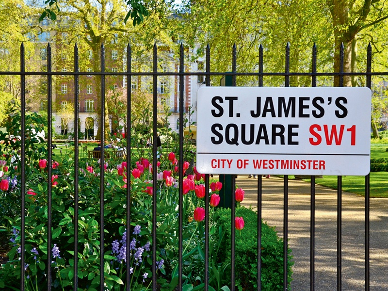 St James's Square (above) and St James's Park (banner image), which is one of London's eight Royal Parks, provide peaceful post-retail havens in this Conservation Area. Photographs: Alamy