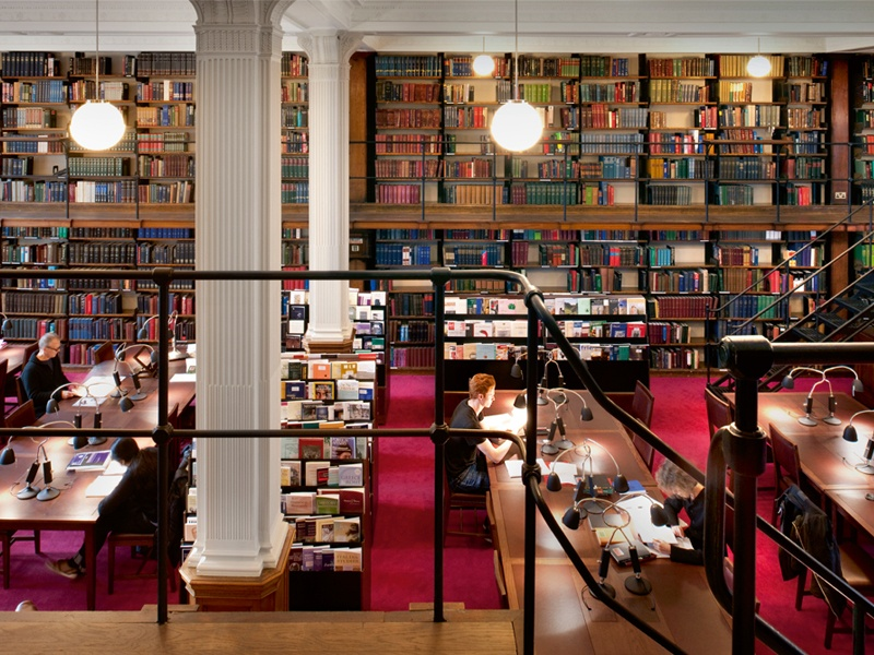 Celebrating 175 years in 2016, the London Library was established on Pall Mall in 1841 and moved to its present-day location in St James's Square in 1845. The library's collection encompasses more than one million books and periodicals, and around 8,000 new volumes are added annually. Photograph: Philip Vile