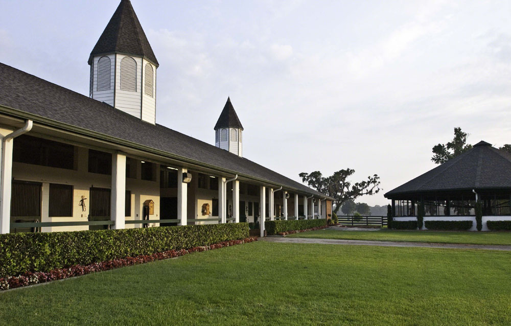 Padua Stables is the ultimate stallion-breeding center, training facility, or choice of operation. The property boasts a broodmare/foaling center, 11 premier barns with 202 stalls, numerous hot walkers and round pens, and a three-quarter mile dirt track and one-mile turf track.