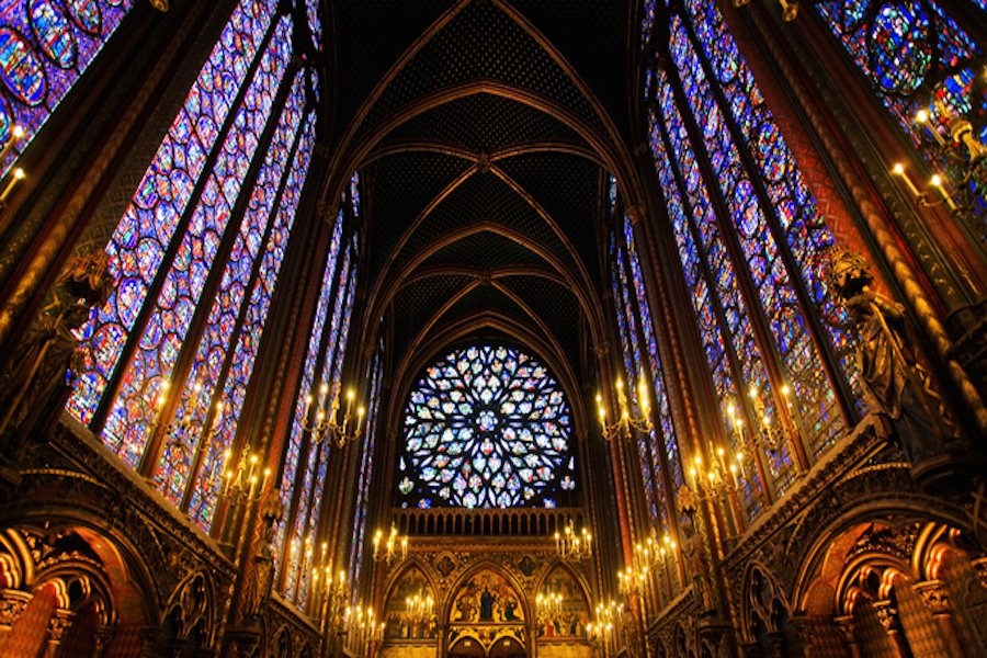Sainte-Chapelle is a Gothic-style Royal chapel on the Île de la Cité in Paris, and its 13th century stained glass windows considered to be among the finest in the world.