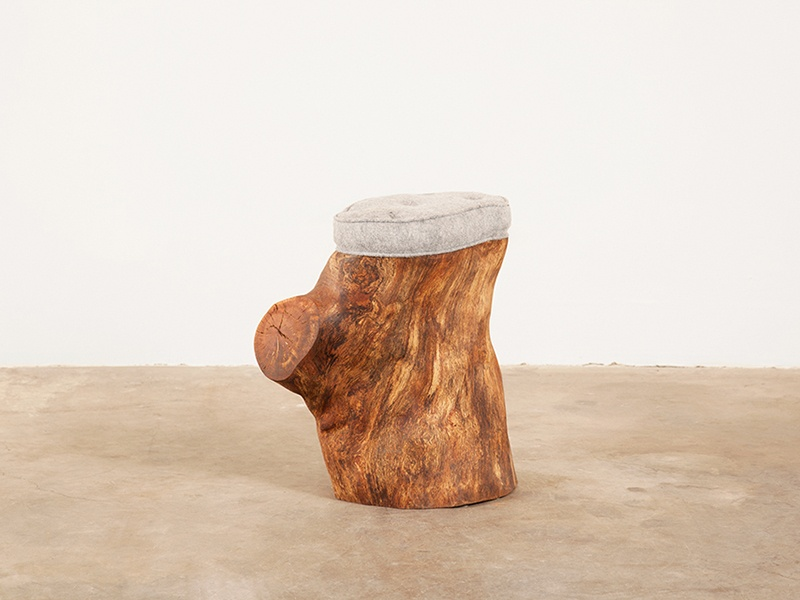 The Paperback Stump Stool by Matt Monroe is constructed from repurposed timber – meaning that each piece is unique.