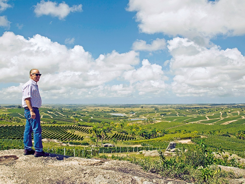 "Alejandro Bulgheroni, who has vineyards on four continents, says his Uruguayan venture, Bodega Garzón, ""represents a new wine region and a new concept in agriculture."""