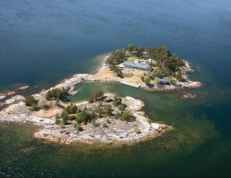 Escape from it all at Grötskär, an enchanting pine forest island in the Baltic Sea, just off the coast of Dalarö, within an hour of Stockholm.
