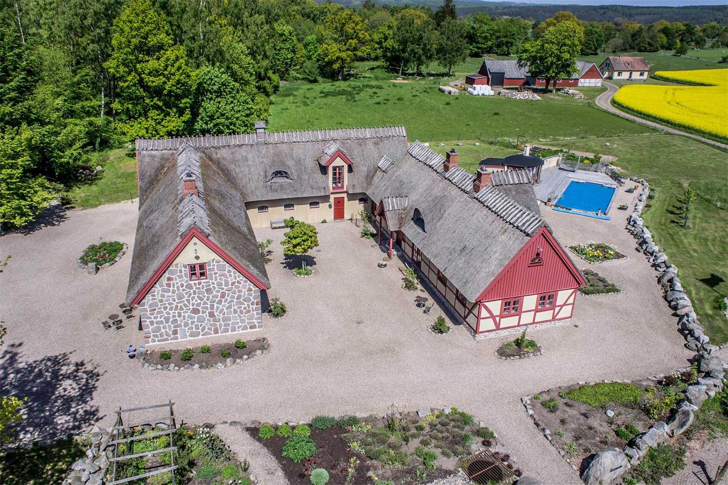 <b>Osterlen, Skane, Sweden</b><br/><i>8 Bedrooms, 5,564 sq. ft.</i><br/>Modern farmhouse overlooking Hanöbukten bay