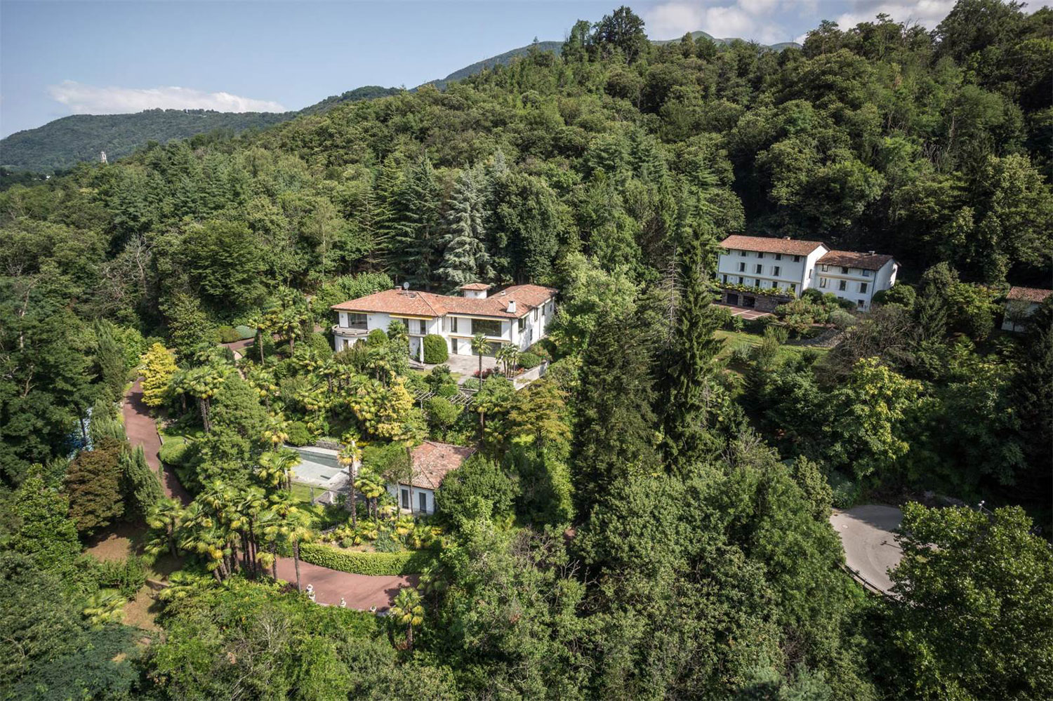This secluded compound near Lake Lugano is akin to a Bond villain's lair, thanks to its Space Age amenities and decadent Sixties décor.