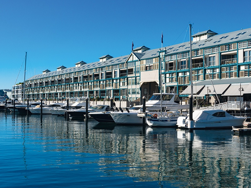 Woolloomooloo Wharf in Sydney is home to fine restaurants and luxurious apartments. Photograph: iStock
