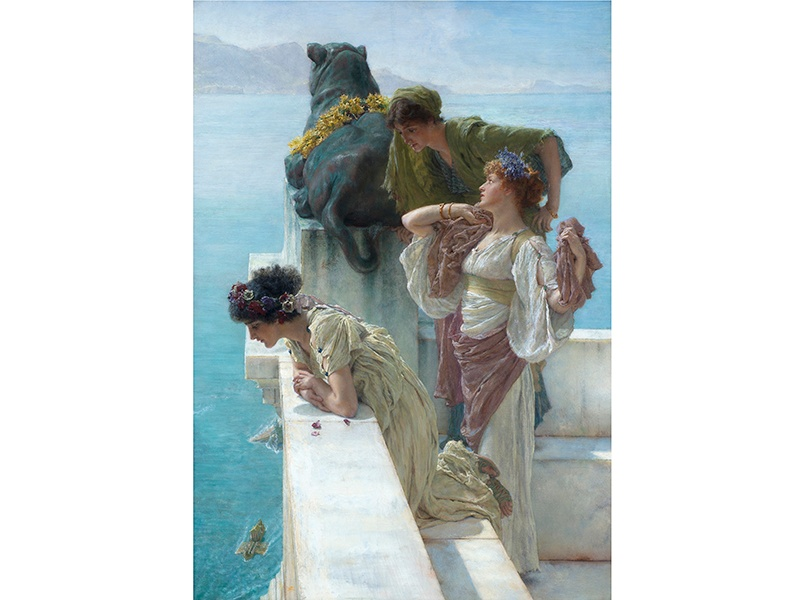 In Lawrence Alma-Tadema's <i>A Coign of Vantage</i> (1895), three Roman women watch as galleys return home. Banner image: Frederic Leighton's studio at London's Leighton House Museum. Photograph: Will Pryce