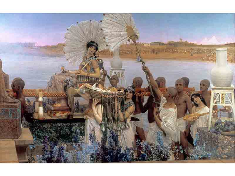 <i>The Finding of Moses</i> (1904), exhibited at the Royal Academy summer exhibition in 1905 and now part of a private collection.