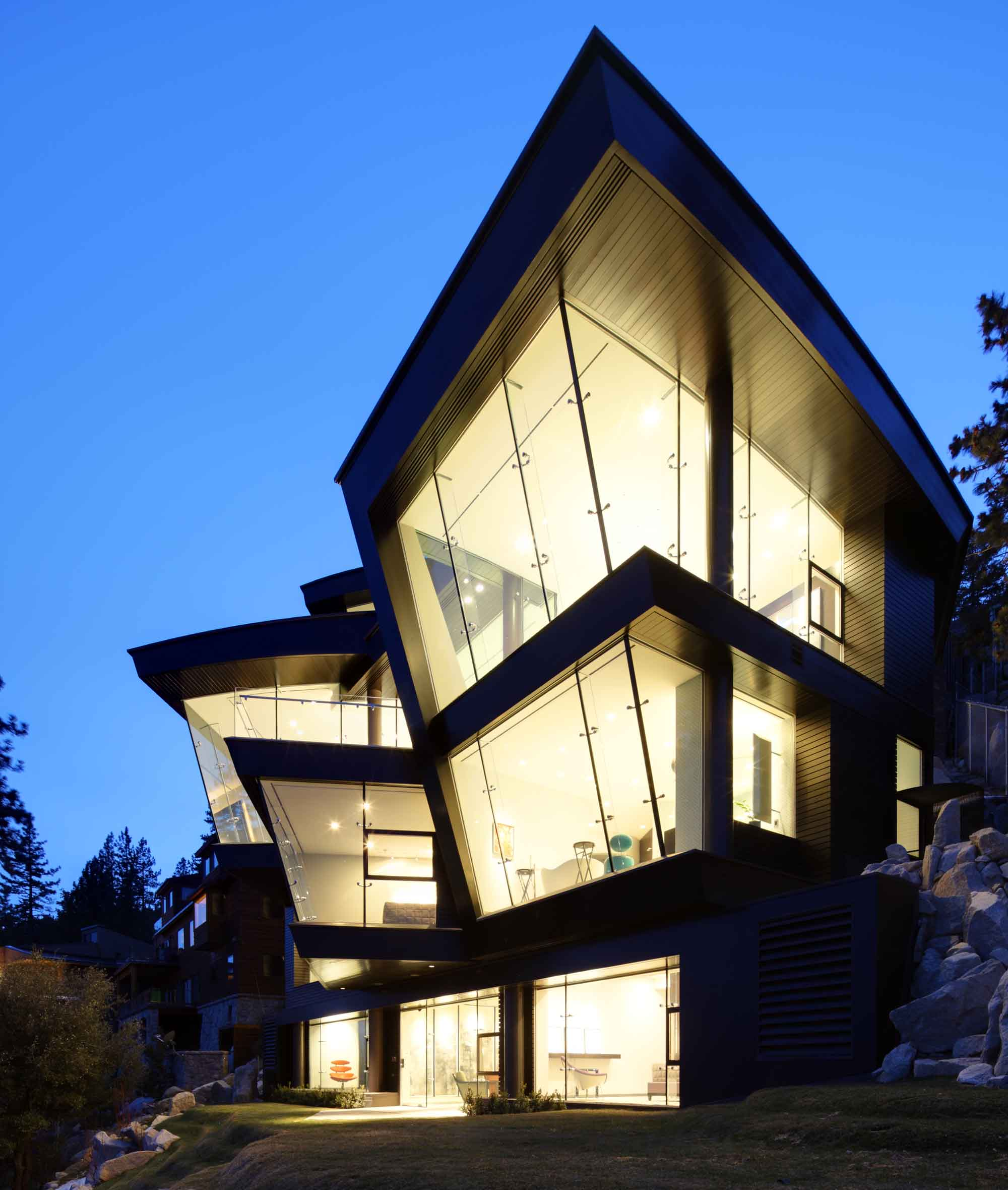 Ski the Future is a triumph of design overlooking Lake Tahoe and the Sierra Nevada.
