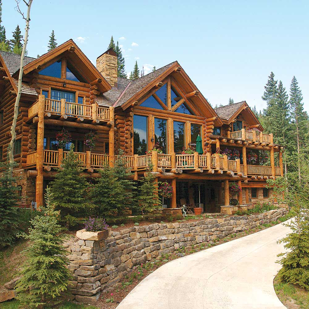 <b>Telluride, Colorado</b><br/><i>6 Bedrooms, 6,841 sq. ft.</i><br/>Log and stone six-bedroom home