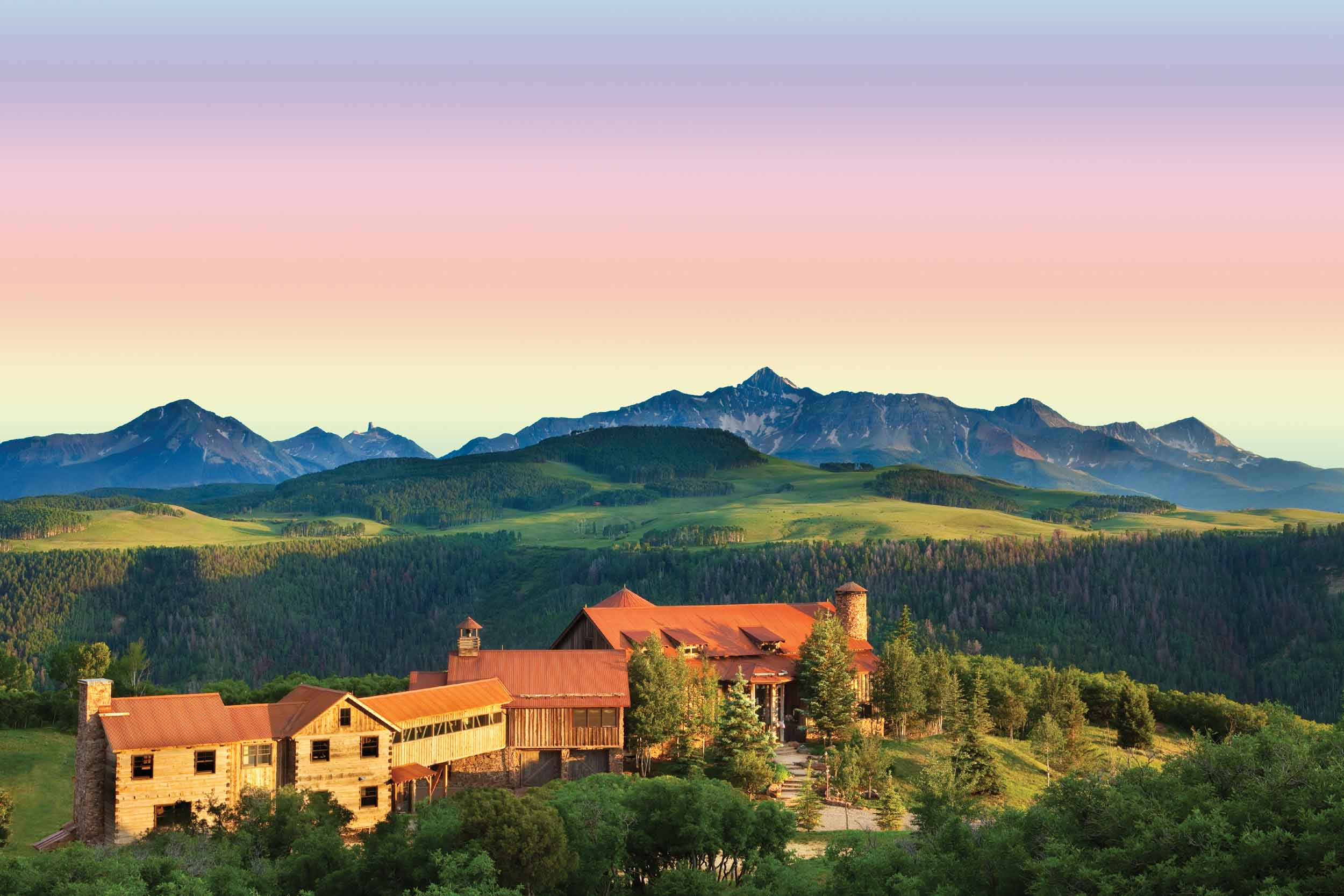 Perfectly at one with its natural environment in Telluride, Colorado's majestic Gray Head Wilderness Area, Catmando is a private, 35-acre compound at eye level with snow-capped Rocky Mountain peaks.