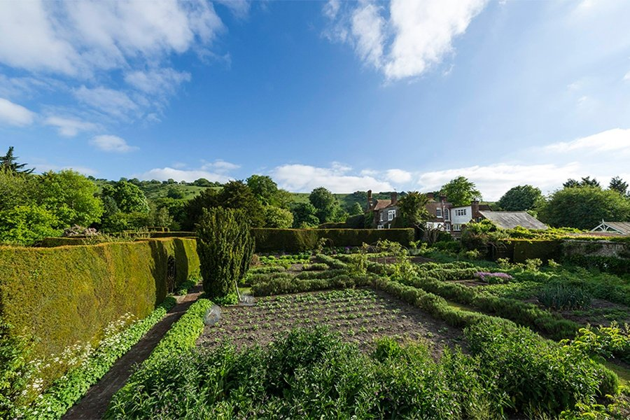 In addition to its orchards and rose garden, The Laines has a thriving walled kitchen garden full of herbs and vegetables.