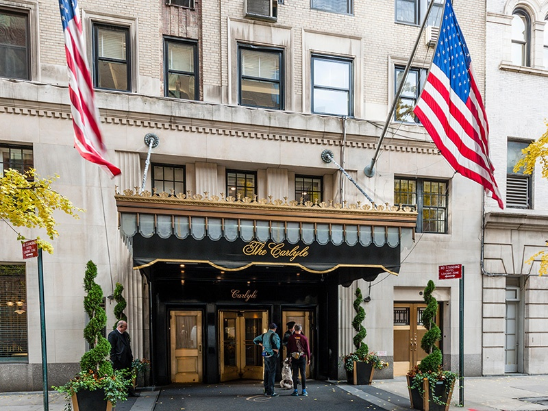 No matter how limited your time in New York City, a dry Martini at the bar in legendary hotel The Caryle, on East 76th Street, is a must, says Christine Van Der Hurd. Photograph: Alamy