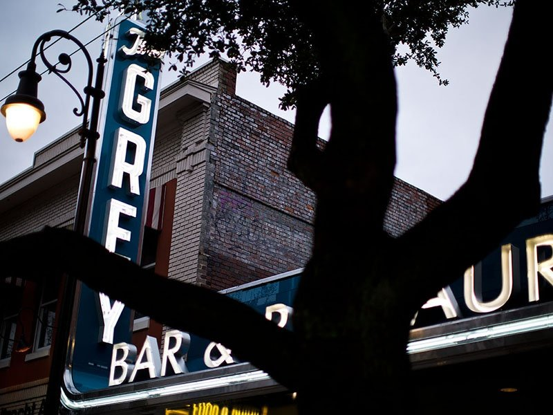 The Grey was named after the Art Deco former Greyhound bus terminal it occupies in Savannah, Georgia's historic district.