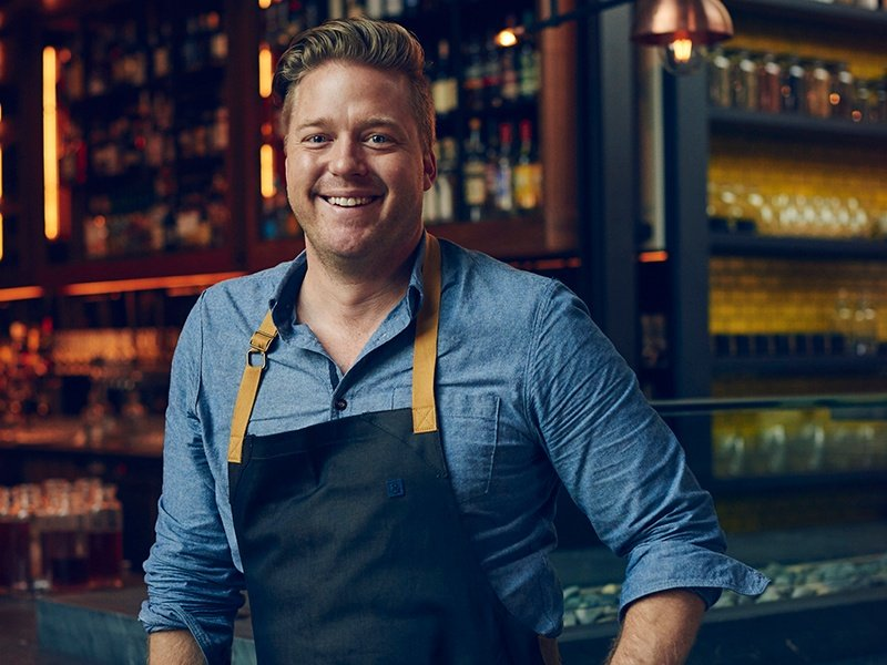 Chef and proprietor Tim Hollingsworth prides himself on the casual atmosphere at his restaurant, Otium. Portrait and banner photograph: Sierra Prescott