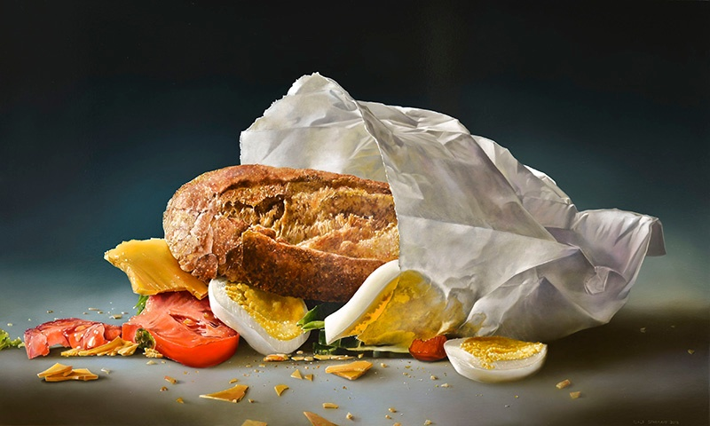 "Tjalf Sparnaay says he likes to show beauty, ""but, of course, there is no beauty without a beast,"" as captured in <i>Broodje Gezond</i> (2013), or ""healthy sandwich."""