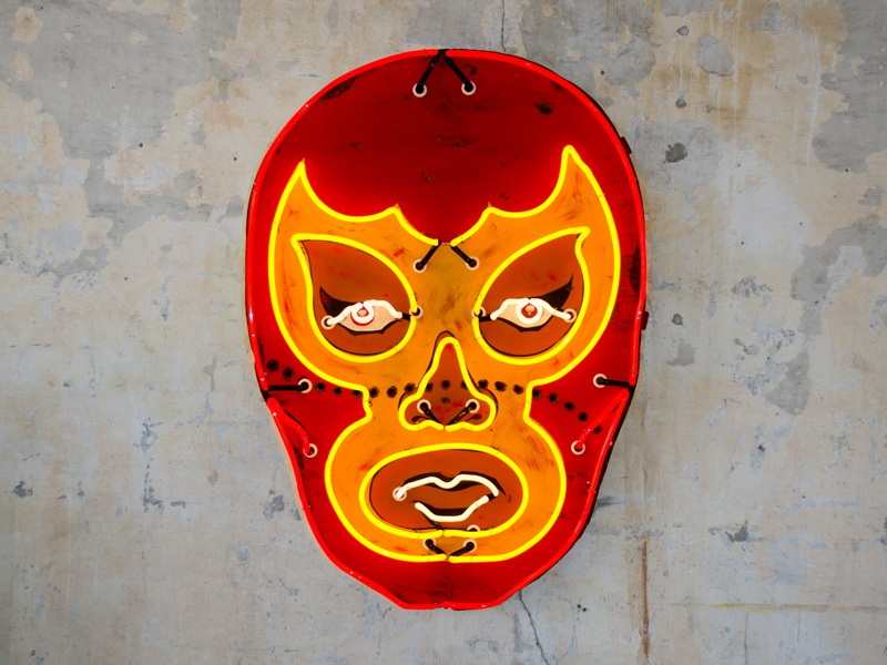 <i>Red Luchador</i> by Todd Sanders. Photograph: Matt Rainwaters