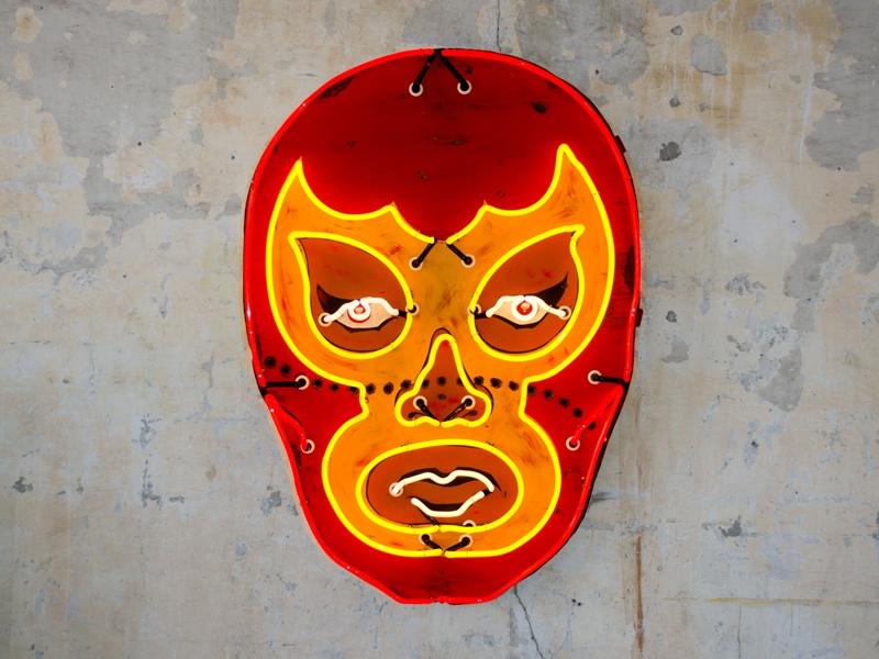 <i>Red Luchador</i> by Todd Sanders. Photograph: Matt Rainwaters