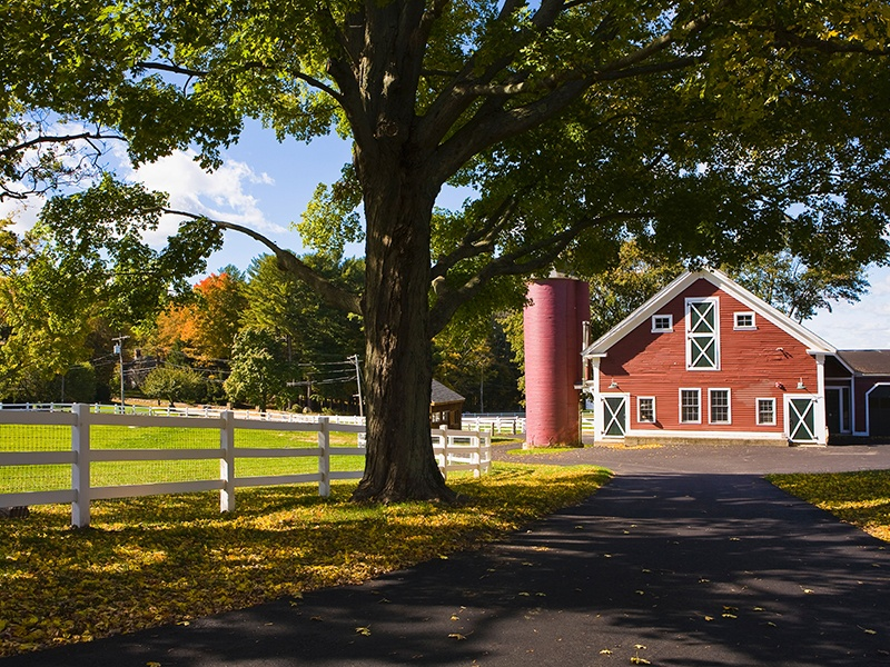 Topsfield boasts running rivers and rolling hills and is the home of America's oldest agricultural fair. Photograph: Alamy