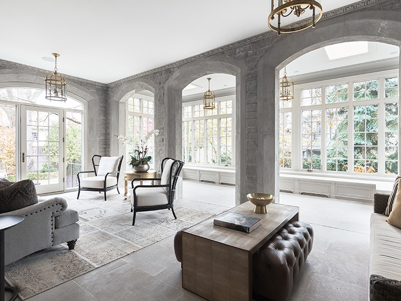 This spectacular room has walk-out access to the glorious grounds, encompassing three-quarters of an acre. On the market withChestnut Park Real Estate, the exclusive affiliate of Christie's International Real Estate in Toronto.