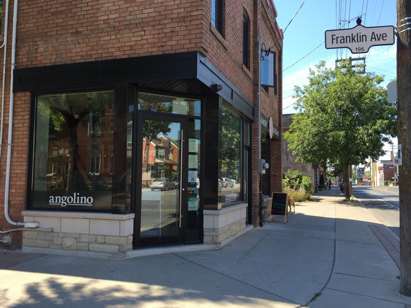 The menu at Angolino changes every few days, but the focus is always on authentic northern italian cuisine.