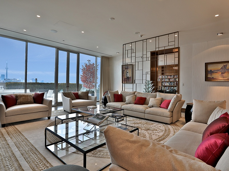 Almost every room of the 10,200-square-foot property opens to a balcony—in total there are 5,000 square feet of terraces.