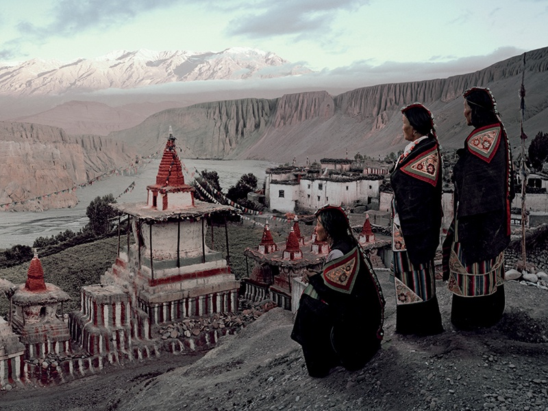 "The Tangge Village, in Upper Mustang, Nepal. When photographing isolated communities, Jimmy Nelson says, ""you have to get on your knees, you have to sweat, you have to cry – you have to show your humanity."" Photograph: © Jimmy Nelson Pictures BV"
