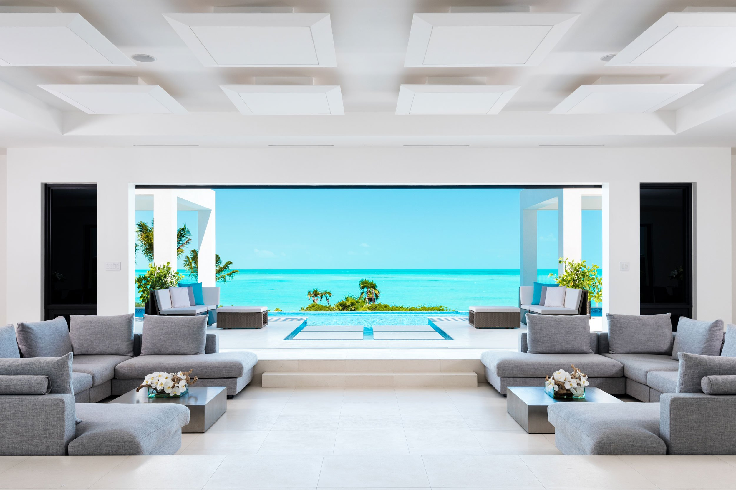 Triton Villa is a newly constructed dream home, designed to showcase unfettered views of the world-famous turquoise waters of the Turks and Caicos Islands.