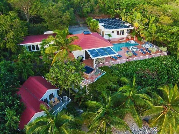 Vida de Mar on the Caribbean island of St. John, is the ultimate tropical eco retreat complete with a brand-new solar power system.