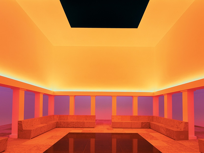 "Another of James Turrell's installations at the Hess-owned museum is <i>Unseen Blue</i>, the world's largest ""skyspace"". Photograph: Florian Holzherr"