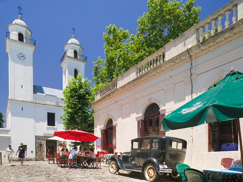 A charming mix of Spanish, Portuguese, and post-colonial architecture can be found in the Colonia del Sacramento World Heritage site. Photograph: Getty Images