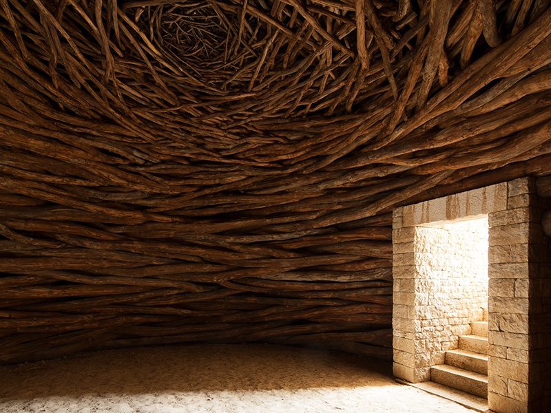 Andy Goldsworthy created <i>Oak Room</i> (2009) especially for Château La Coste's grounds. Photograph: Vincent Leroux