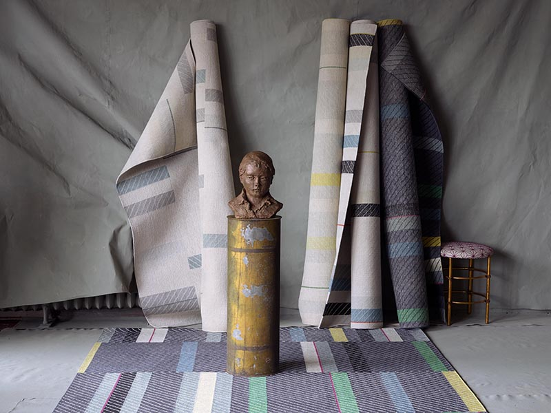 "Vanderhurd's Amelia Truss collection, which ""features a uniquely patterned, bold design in a variety of subtle shades… gorgeous rugs [for] a sophisticated enhancement to any interior."""