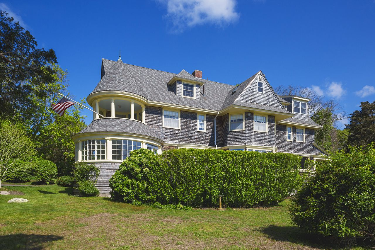 This Queen Anne Revival house in the private seaside community of Chapoquoit Island has been a gathering place for summer vacations since the Victorian era.