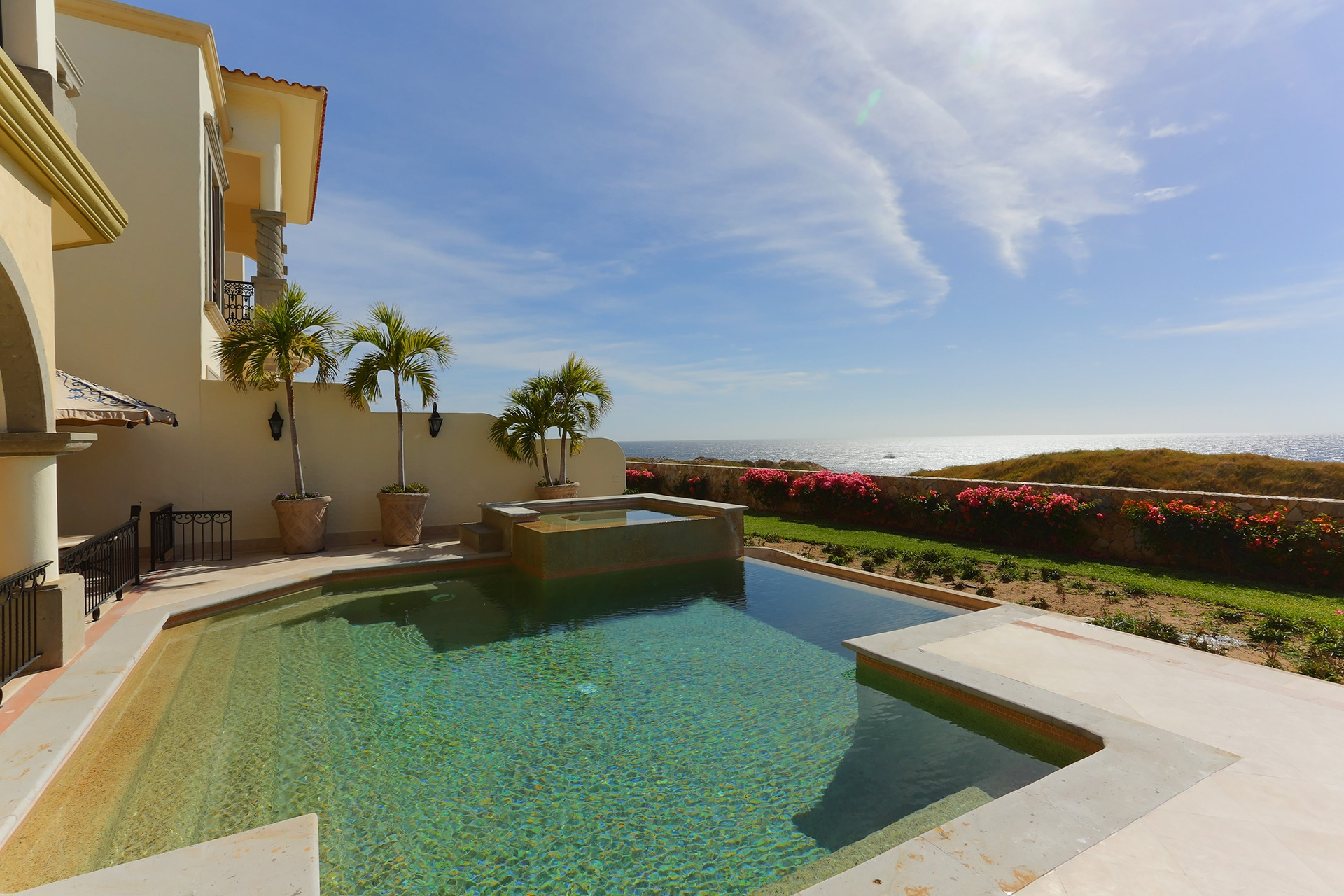 The legendary resort town of Cabo San Lucas sets the stage for Villa Canario, an elegant, fully furnished villa with a pool and spa, and access to world-class golf.