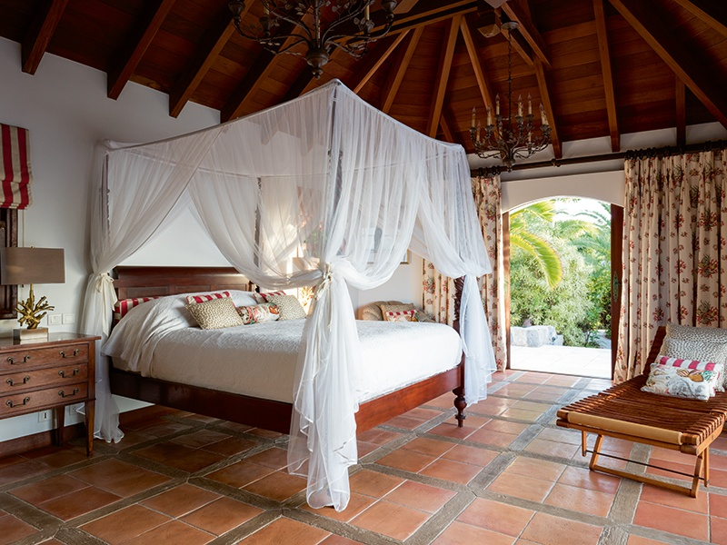 Each of the property's five bedrooms provides its residents with their own private paradise.