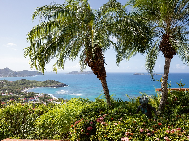 Enjoy the views from Villa Chanticleer, which overlooks the bay of Lorient on the northern coast of Saint Barthélemy.