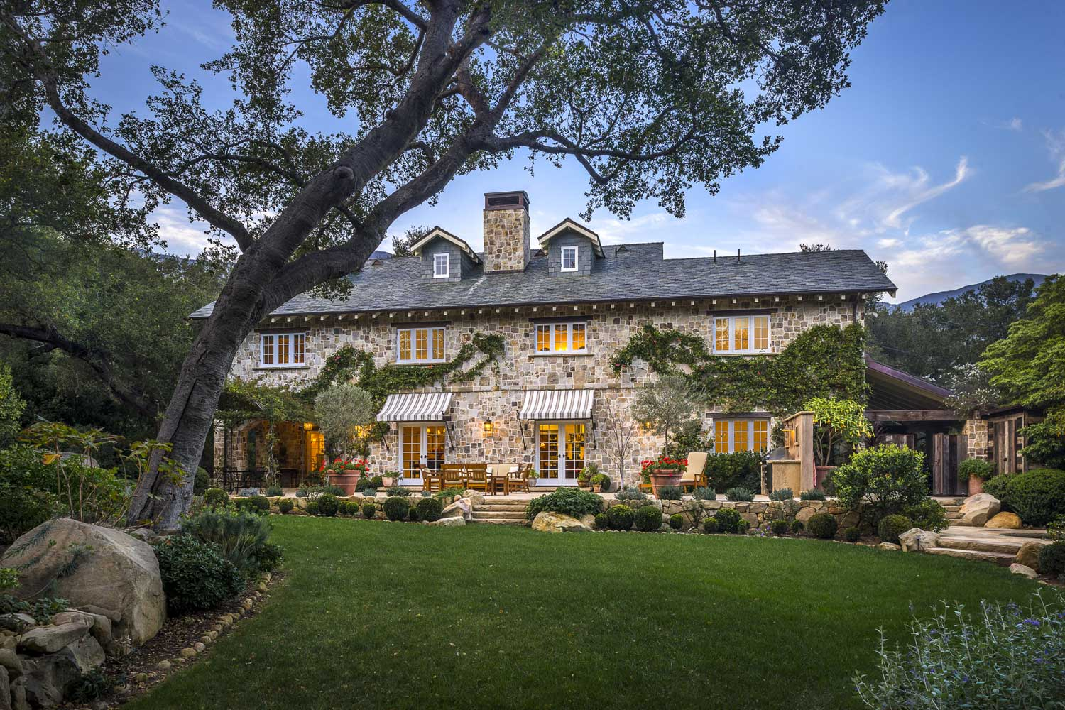 <b>Montecito, California</b><br/><i>4 Bedrooms, 4,460 sq. ft.</i><br/>French-inspired stone farmhouse in Montecito's Golden Quadrangle