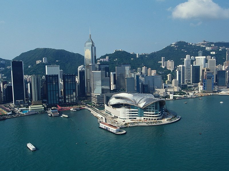 The harbor location of the Hong Kong Convention & Exhibition Centre not only provides an impressive backdrop to the congresses, conferences, meetings, and seminars held there every year, it also means the vibrancy of city life is on the doorstep. Photograph: Getty Images