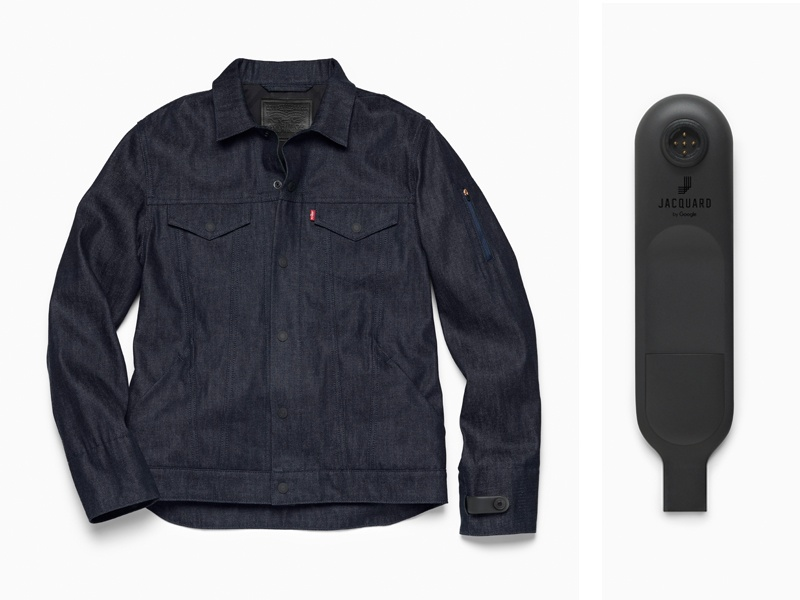 Jacquard technology has been added to the Levi's Commuter Trucker Jacket, designed specifically for urban bike commuters. Wearers are able to control their mobile experience and connect to services, such as music or maps, directly from the jacket.