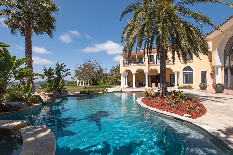 <b>Rancho Santa Fe, California</b><br/><i>5 Bedrooms, 7,515 sq. ft.</i><br/>Five-bedroom home with 180-degree Pacific Ocean views