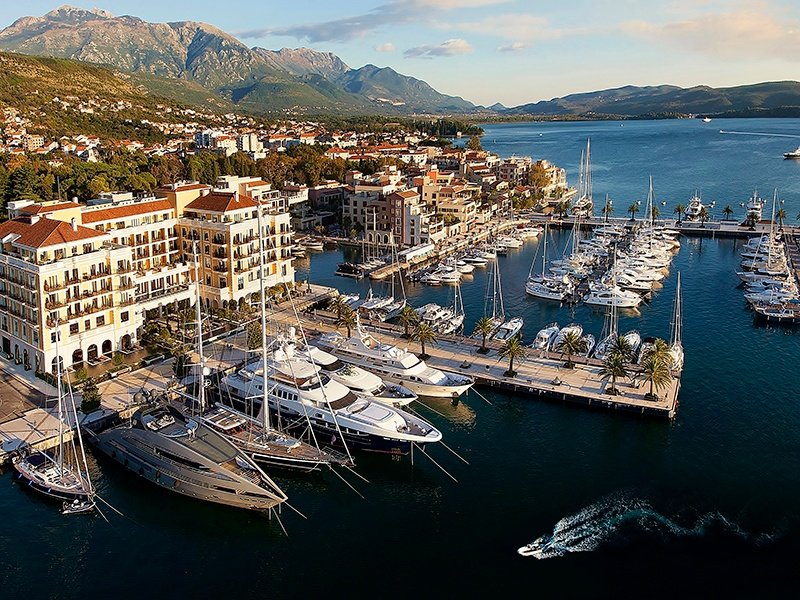 The Regent Porto Montenegro hotel is part of the port's vibrant community of restaurants, bars, beach clubs, and boutiques—all catering for yacht owners and charters.