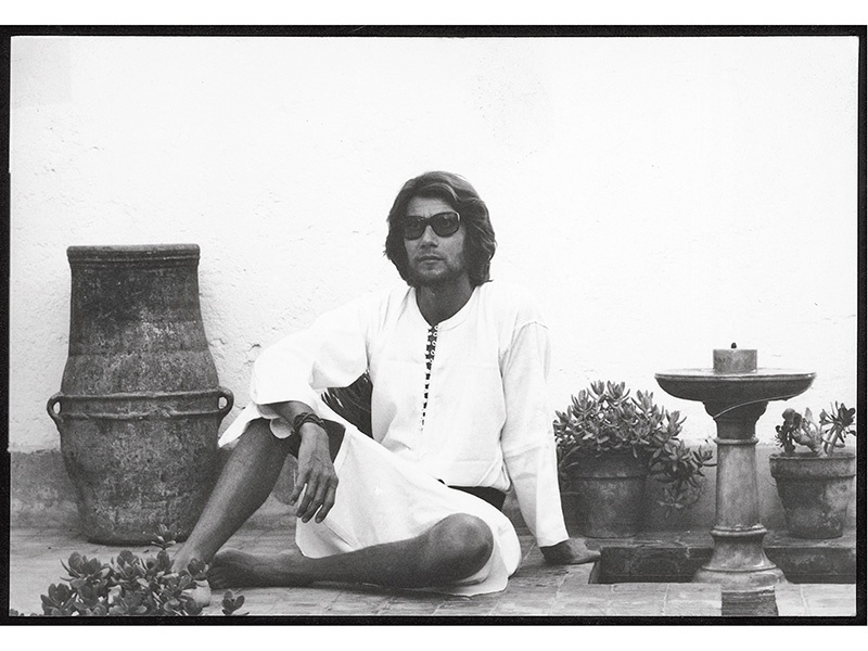 Yves Saint Laurent at Dar el Hanch, the home in Marrakech he shared with partner Pierre Bergé. Photograph: ©Pierre Bergé