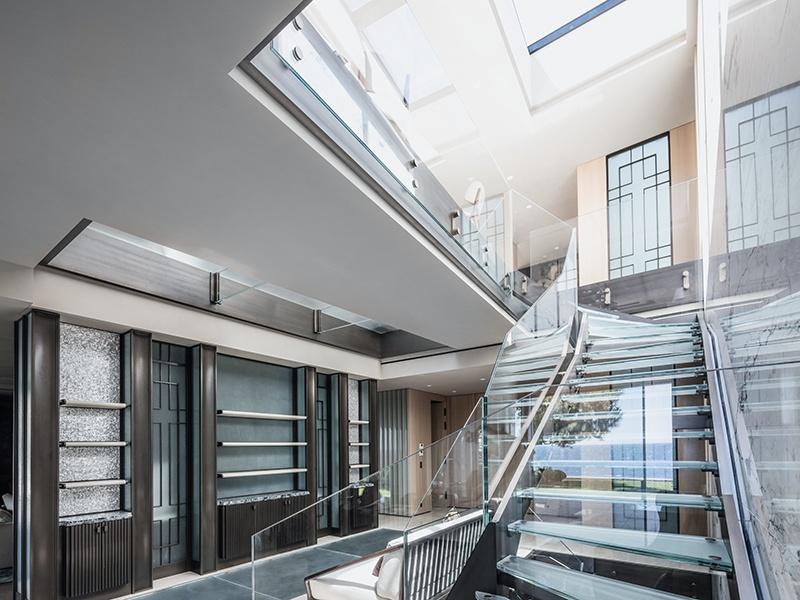A skylight floods the space with sunshine at AB Concept's Côte d'Azur villa.