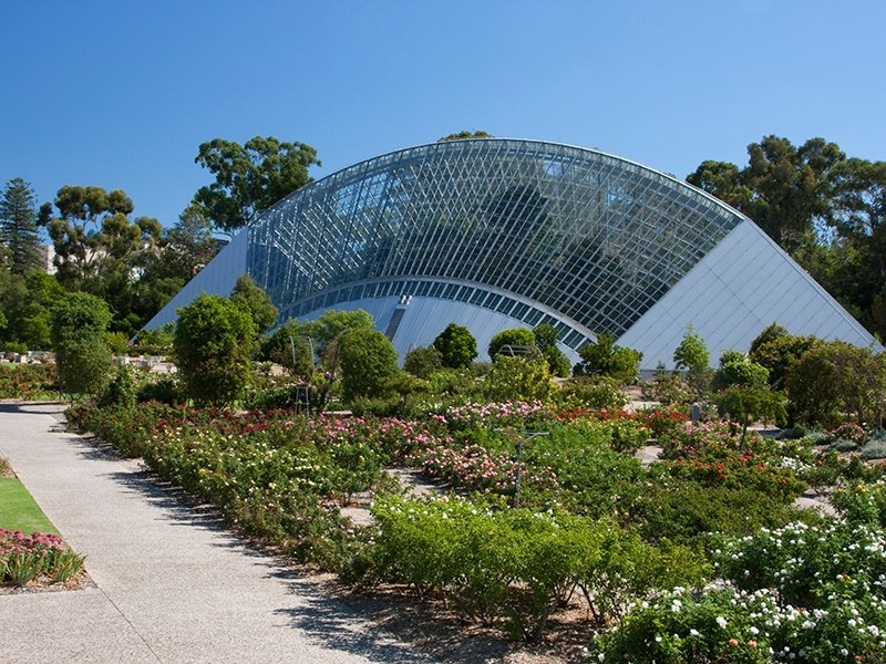 Built in celebration of Australia's 1988 bicentenary, this Guy Maron-designed conservatory is the largest single-span conservatory in the Southern Hemisphere. Photograph: Getty Images