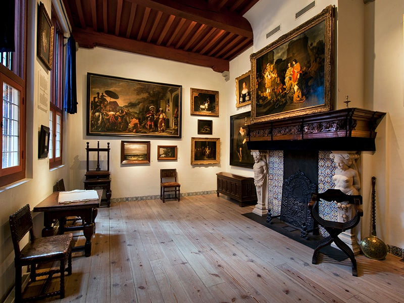 Rembrandt van Rijn's home and workshop, now a museum, has been refurbished with furniture, art, and objects from the artist's era.