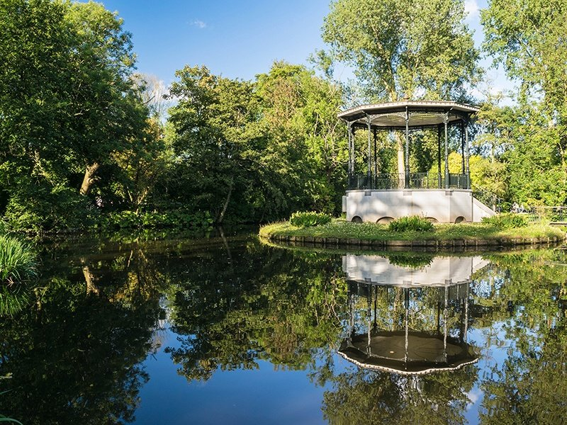 The largest park in Amsterdam, the genteel Vondelpark has several restaurants, an open-air theater and a garden with more than 70 different species of rose.