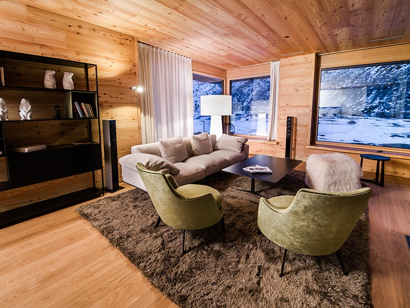 The new luxury residential homes for sale in Andermatt use natural materials, designed with the environment in mind.