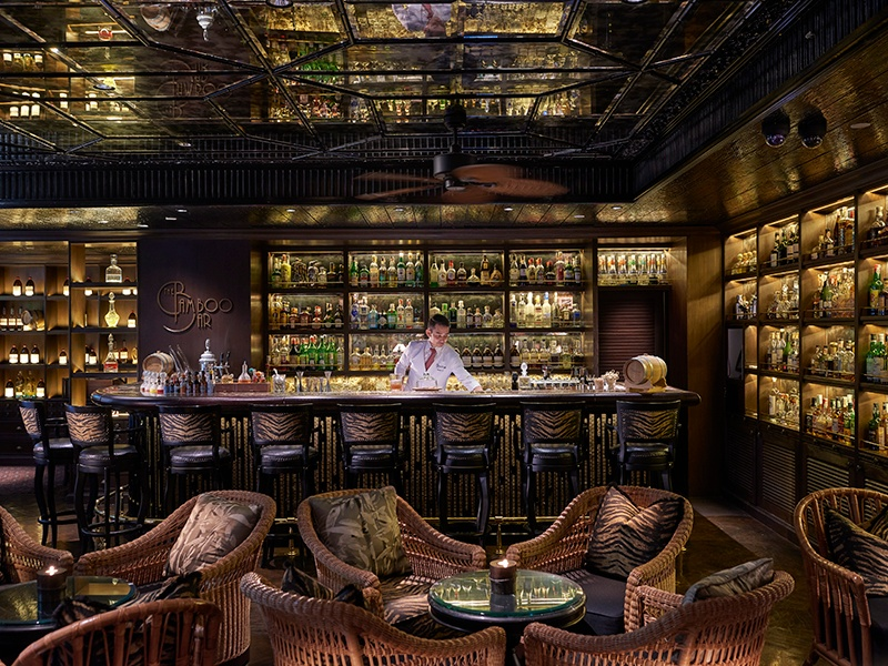 """Bamboo Bar's current cocktail menu takes an """"a cappella"""" theme, an homage to the bar's rich jazz history. Photograph: The Bamboo Bar"""