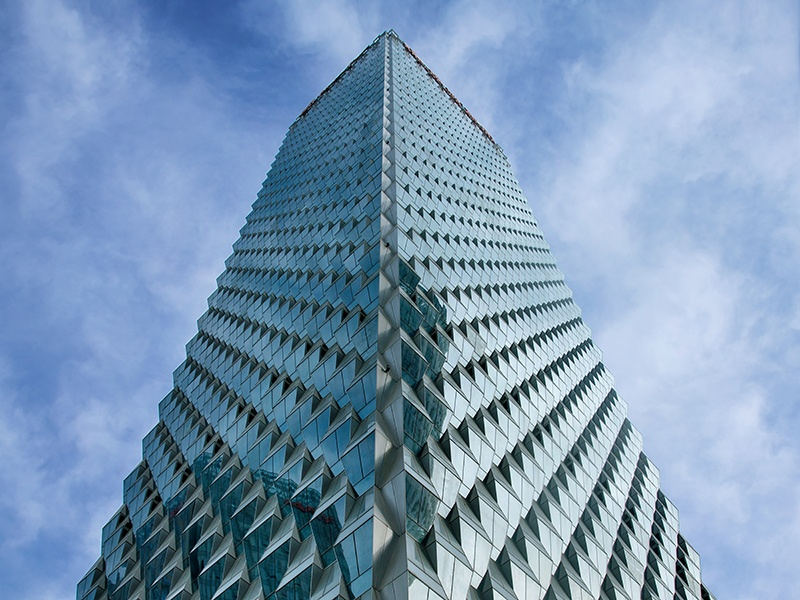 """Described by its architects Skidmore, Owings & Merrill as """"sustainable, elegant, and efficient,"""" the 853-foot Beijing Greenland Center is clad in an undulating glass curtain that improves the building's environmental performance. Photograph and banner image: © Lv Hengzhong. Courtesy of SOM"""